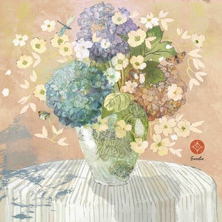 Marmont Hill - Brendas Hydrangea by Evelia Painting Print on Canvas
