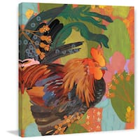 Marmont Hill - Mexican Rooster by Evelia Painting Print on Canvas - Multi-color