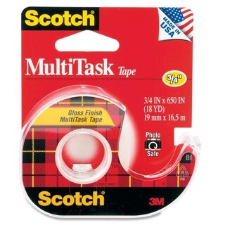 Scotch MultiTask Transparent Tape - 1/EA