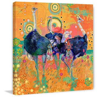 Marmont Hill - Three Ostrich by Evelia Painting Print on Canvas