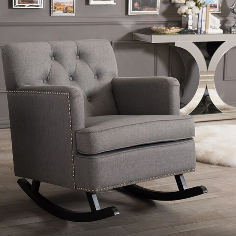 Contemporary Fabric Rocking Chair by Baxton Studio