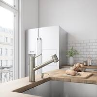 VIGO Branson Stainless Steel Pull-Out Spray Kitchen Faucet