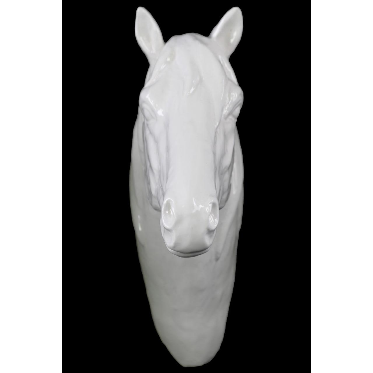 Porcelain White Gloss Horse Head Wall Decor Overstock 10915364
