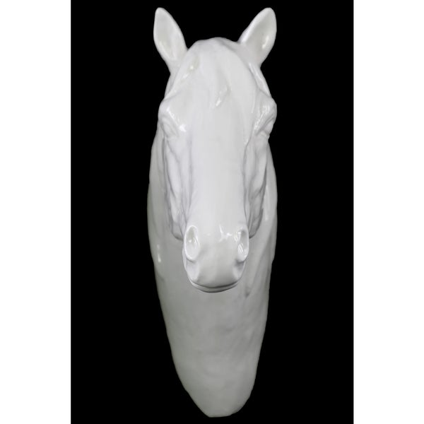 Porcelain White Gloss Horse Head Wall Decor