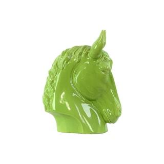 Ceramic Horse Head SM Gloss Green