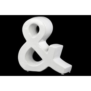 Gloss White Ceramic ''&'' Sign