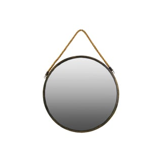 Metal Wall Mirror Round Gold