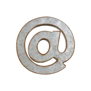 "Rusted Edge Metal ""@"" Alphabet Wall Decor"
