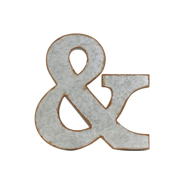 Metal Letter B Wall Decor : Galvanized zinc metal alphabet wall decor with rusted