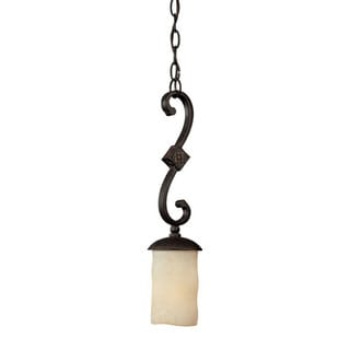 Capital Lighting River Crest Collection 1-light Rustic Iron Mini Pendant