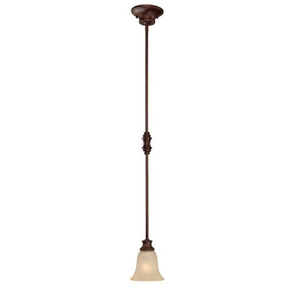 Capital Lighting Hill House Collection 1-light Burnished Bronze Mini Pendant