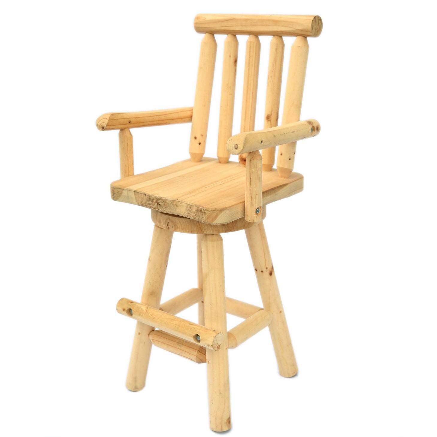 Log bar stools