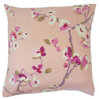 Dashania Floral 18-inch Feather and Down Filled Throw Pillow