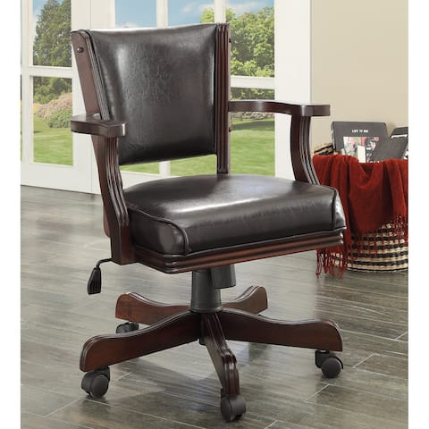 Furniture of America Jier Traditional Leatherette Game Armchair