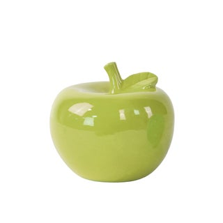 Ceramic Apple Figurine SM Gloss Green