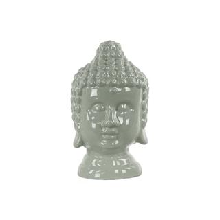 Urban Trends Grey Ceramic Buddha Head Figurine
