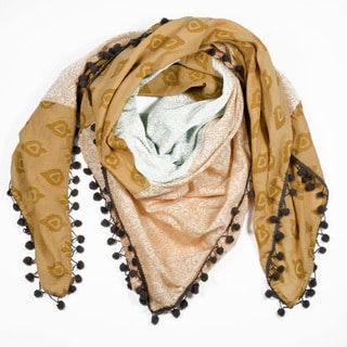 Sand Color Block Square Scarf (India)