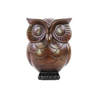 Urban Trends Collection Ceramic Brown Owl