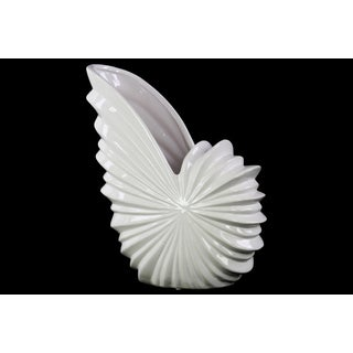 Ceramic White Shell Flower Pot