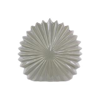 Ceramic Shell Flower Vase Gloss Light Grey