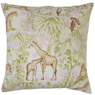 Ender Graphic 18-inch Feather and Down Filled Throw Pillow