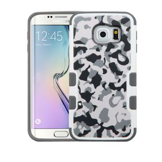Insten Gray/ White Camouflage Hard Snap-on Rubberized Matte Case Cover For Samsung Galaxy S6 Edge