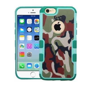 Insten Green/ Black Camouflage Hard Snap-on Rubberized Matte Case Cover For Apple iPhone 6/ 6s
