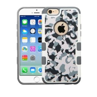 Insten Gray/ White Camouflage Hard Snap-on Rubberized Matte Case Cover For Apple iPhone 6/ 6s