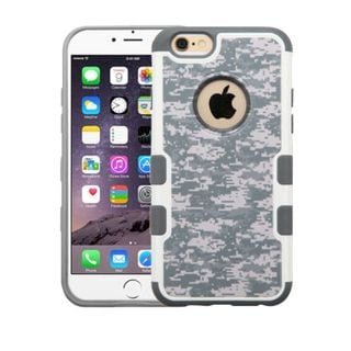 Insten Gray/ White Camouflage Hard Snap-on Rubberized Matte Case Cover For Apple iPhone 6 Plus/ 6s Plus