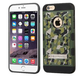 Insten Green/ Black Camouflage Hard Snap-on Case Cover with Stand For Apple iPhone 6 Plus/ 6s Plus