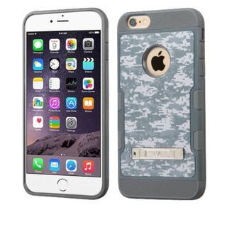Insten Gray/ Blue Camouflage Hard Snap-on Case Cover with Stand For Apple iPhone 6 Plus/ 6s Plus