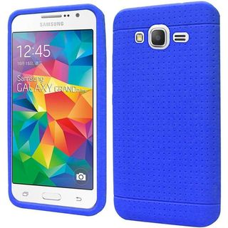 Insten Rugged Silicone Skin Gel Rubber Case Cover For Samsung Galaxy Grand Prime