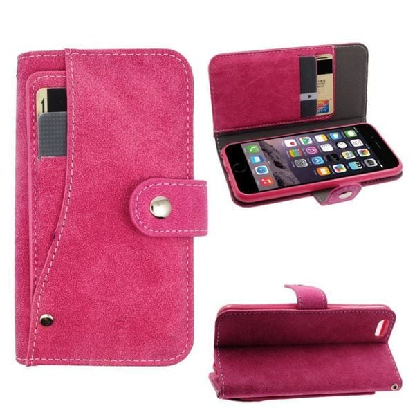 INSTEN Leather Case Pocket Wallet with Stand/ Wallet Flap Pouch for Apple iPhone 6/ 6s
