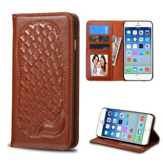 Insten Genuine leather Fabric Case Cover with Card Slot/ Photo Display For Apple iPhone 6/ 6s