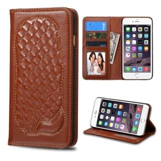 Insten Genuine leather Fabric Case Cover with Card Slot/ Photo Display For Apple iPhone 6 Plus/ 6s Plus