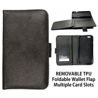 Insten Black Leather Case Cover with Wallet Flap Pouch/ Photo Display For Samsung Galaxy S6 Edge