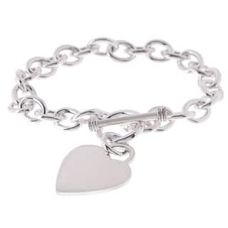 Sterling Silver 8-inch Heart Toggle Bracelet|https://ak1.ostkcdn.com/images/products/1092461/P1011579.jpg?impolicy=medium