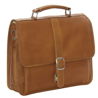 Piel Leather Small Flap-over Laptop/ Tablet Brief