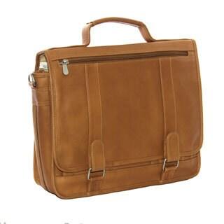 Piel Leather Double Loop Expandable Laptop Briefcase