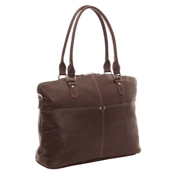 Piel Leather Slim Executive Laptop Tote Bag. Opens flyout.