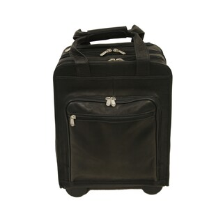 Piel Leather Vertical Rolling Laptop Briefcase (2 options available)