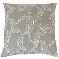 Afia Graphic 18-inch Feather and Down Filled Throw Pillow