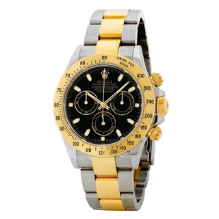 Rolex Men's Daytona Black Dial Watch