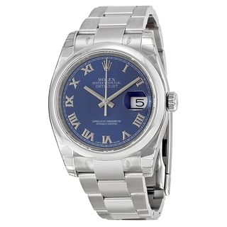 Rolex Women's Datejust Blue Dial Watch