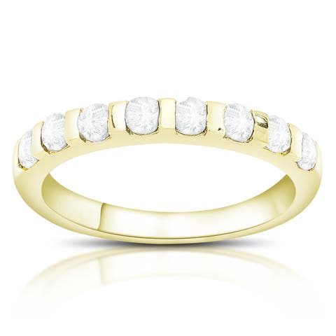 Dolce Giavonna Gold over Sterling Silver White Topaz Ring