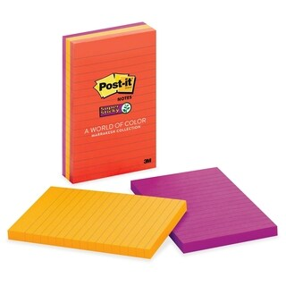 Post-it Super Sticky Marrakesh Lined Notes - 3/PK