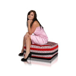 Cubo Premium Cubo Floral Black Large Bean Bag Chair