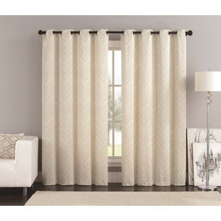 VCNY Chevron Jacquard 84-Inch Panel Pair