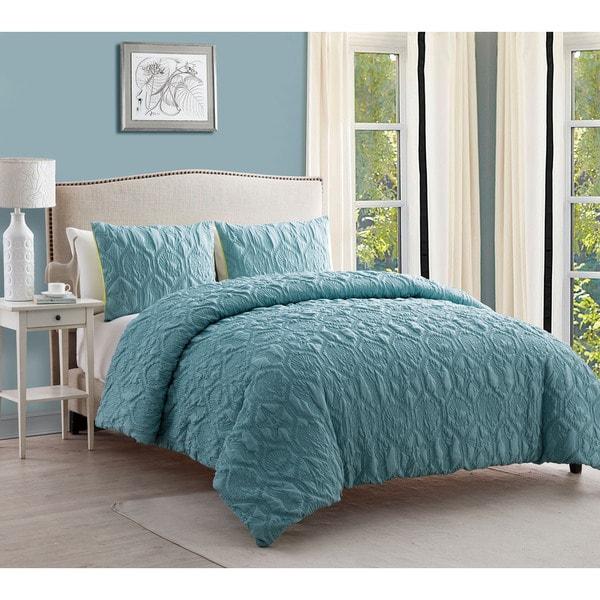 VCNY Coastal Shore Down Aqua Down Alternative Comforter Set