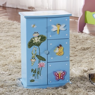 Children's Mini 4-drawer Baby Blue Jewelry Box